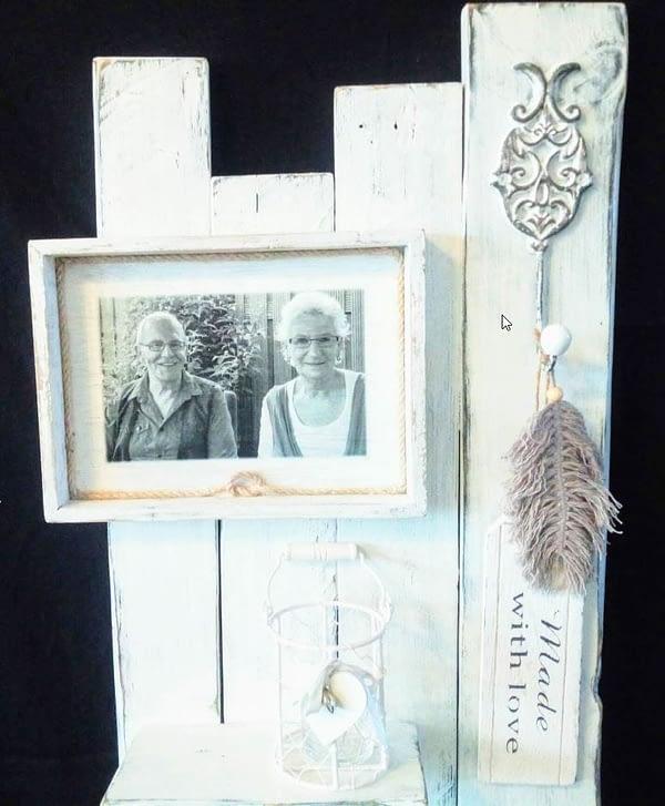 Memories - Moodbord met afbeelding en haak landelijke stijl