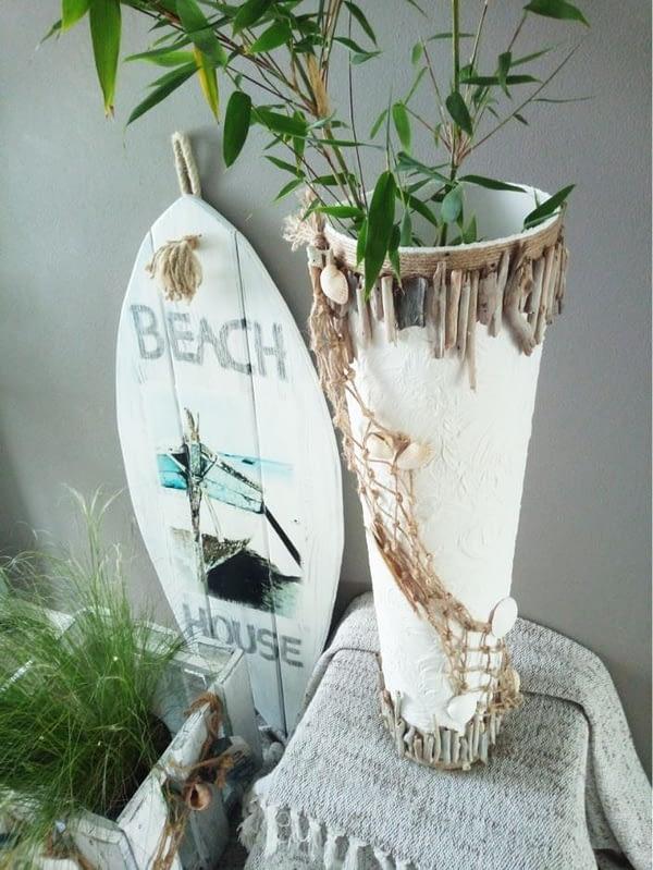 Beach House - Vaas gerestyled, bewerkt en voorzien van deco
