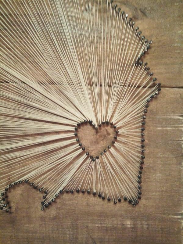Deco-bord: Drenthe (string-art)