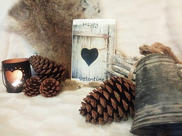 Deco-bordje: Happy Valentine - Hout 01