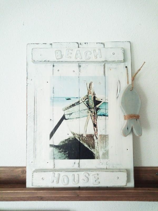 Beach House - Decobord met afbeelding