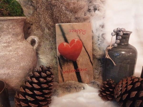 Deco-bordje: Hartje - Happy valentine