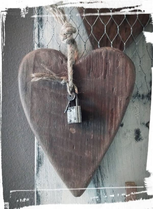 Captured heart Valentijnsbord