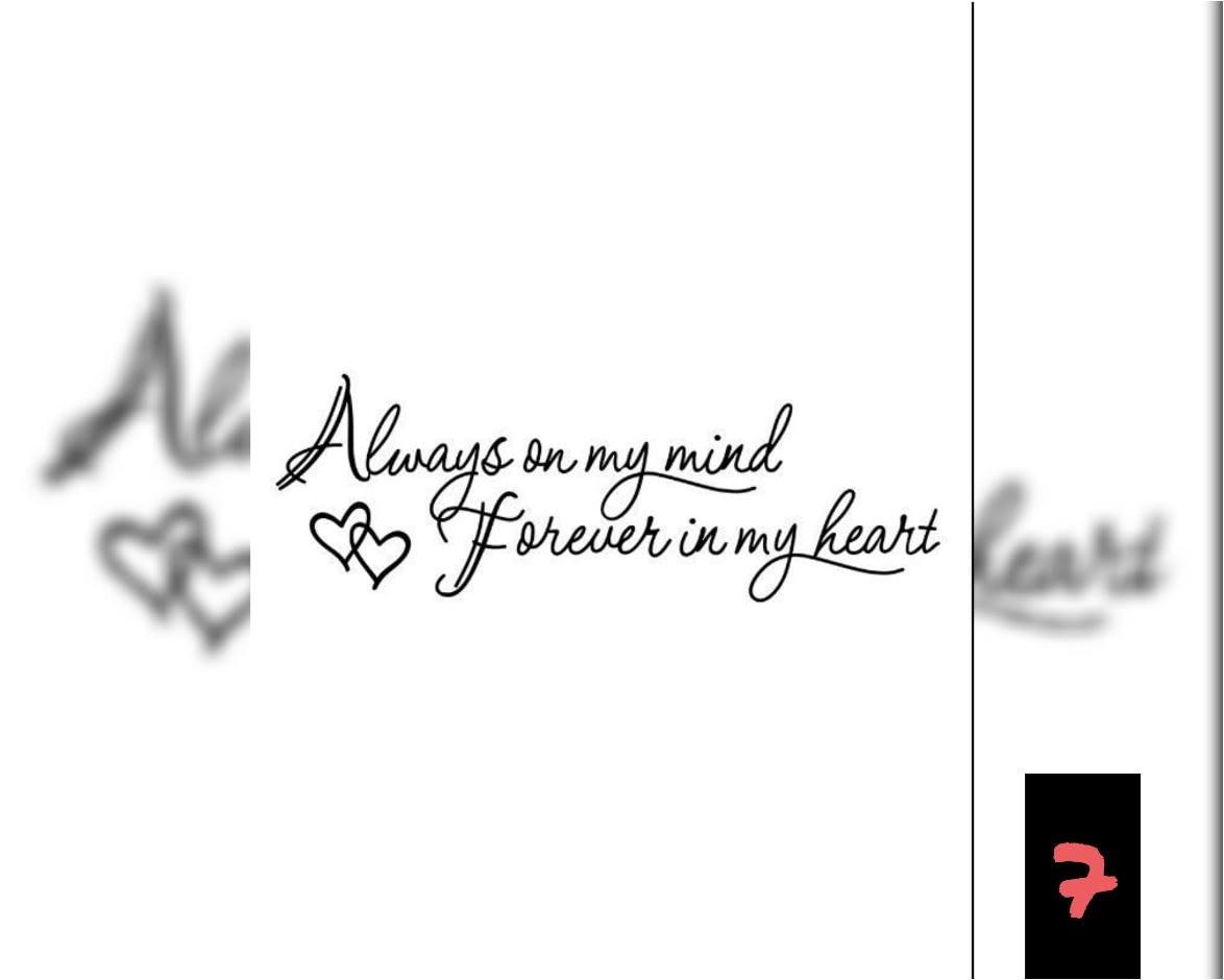 Teksten 07 - Always mind-Forever Heart