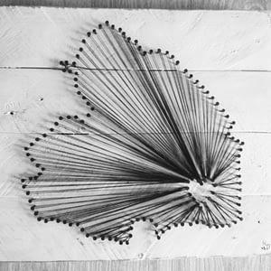 String-art Drenthe pallet hout landelijke stijl