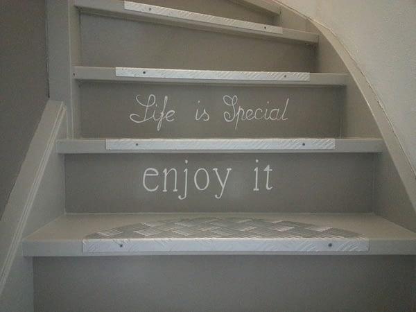 Tekst op trap