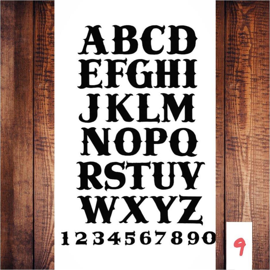 Lettertype 09