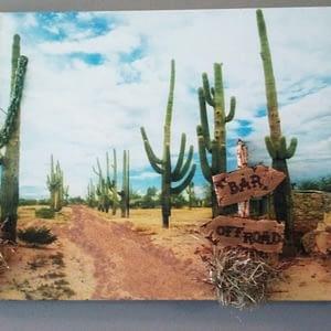 Schilderij - Cactus met 3D-effect