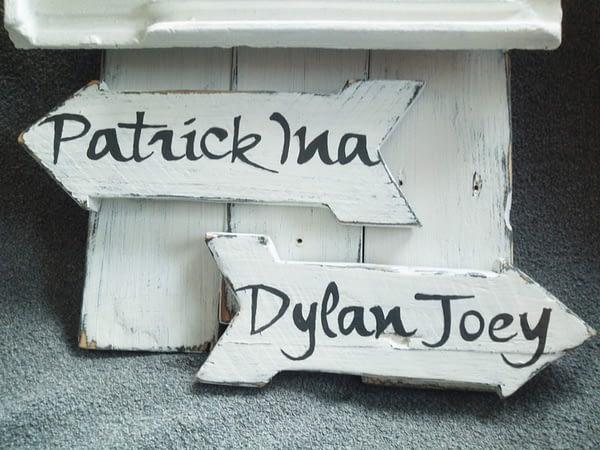 Huisnummerrbord 95 - dakpan met tekst en tekening