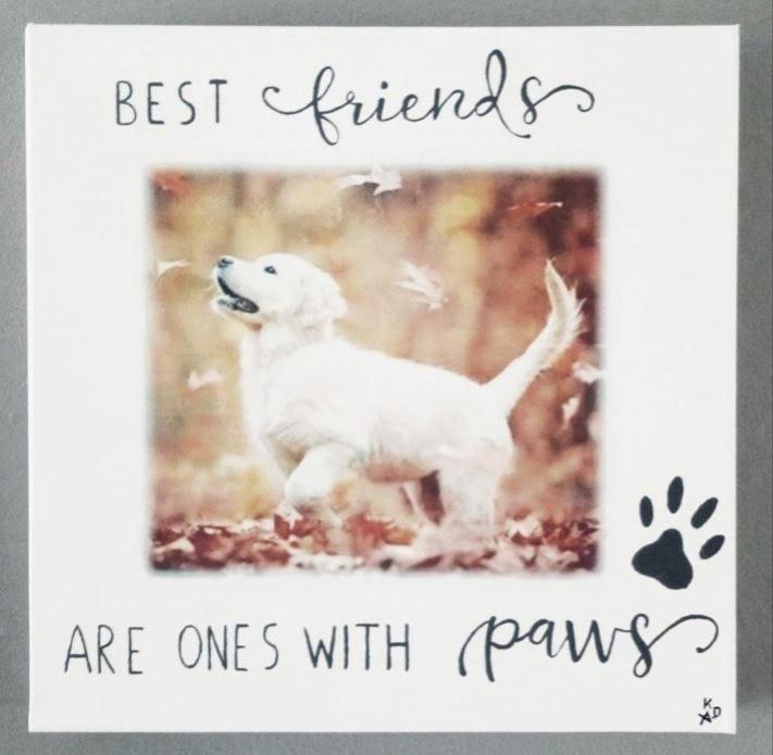 """Hond: """"Golden Retriever"""" op canvas"""