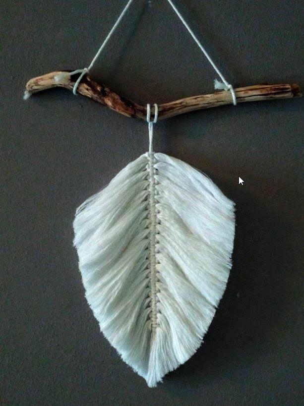 Macramé - Veer behorend bij Wandkleed Bohemian