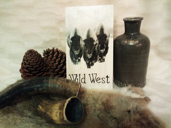 Deco-bordje: Wild West - Bizons