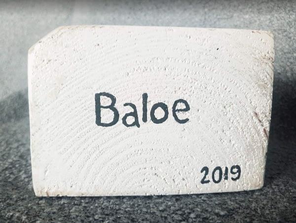 """Memories - Houten waxinelichtjes houder """"Baloe""""met foto en tekst"""