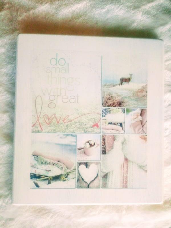 Deco-bordje: Love (dubbelzijdig)