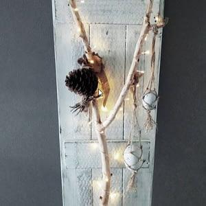 Deco-bord Paastak gemaakt van pallethout in landelijkestijl incl. verlichting