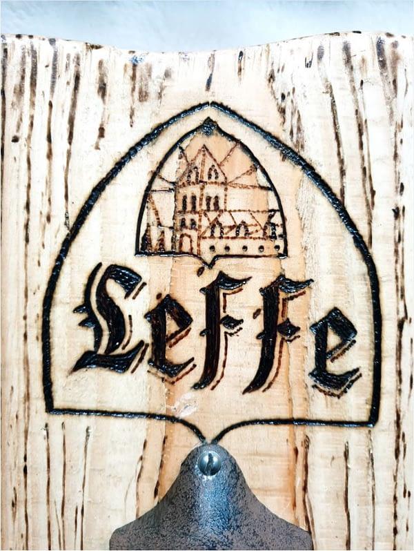 "Flesopener wandbord - ""Leffe"""