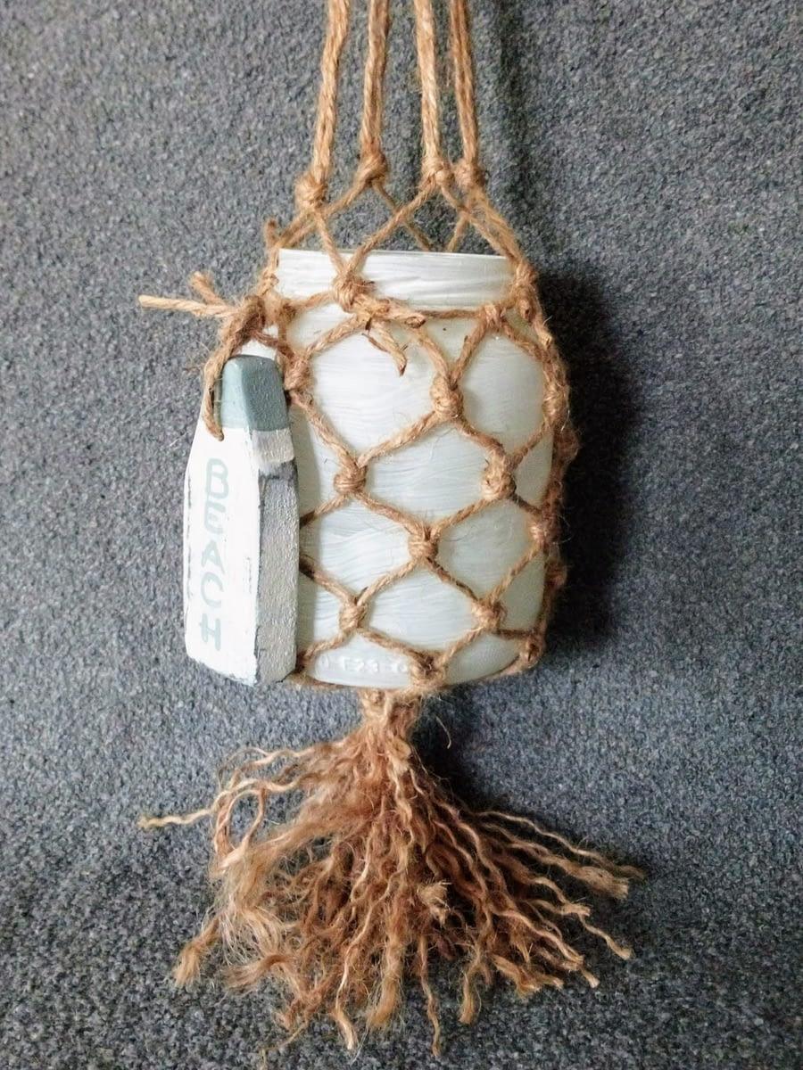 Beach House - Strandlicht Hanger met macramé