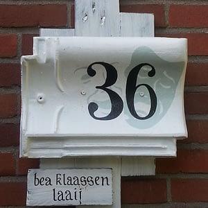 Huisnummerbord 36