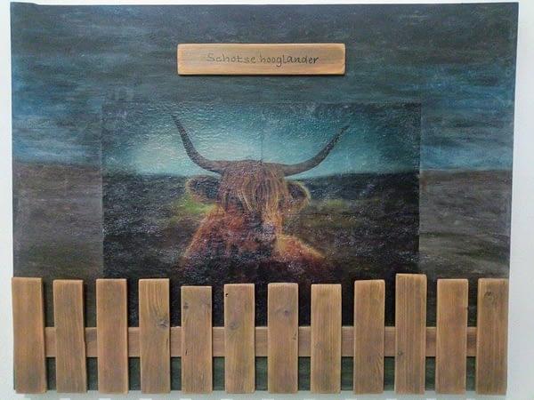 Schilderij - Schotse hooglander