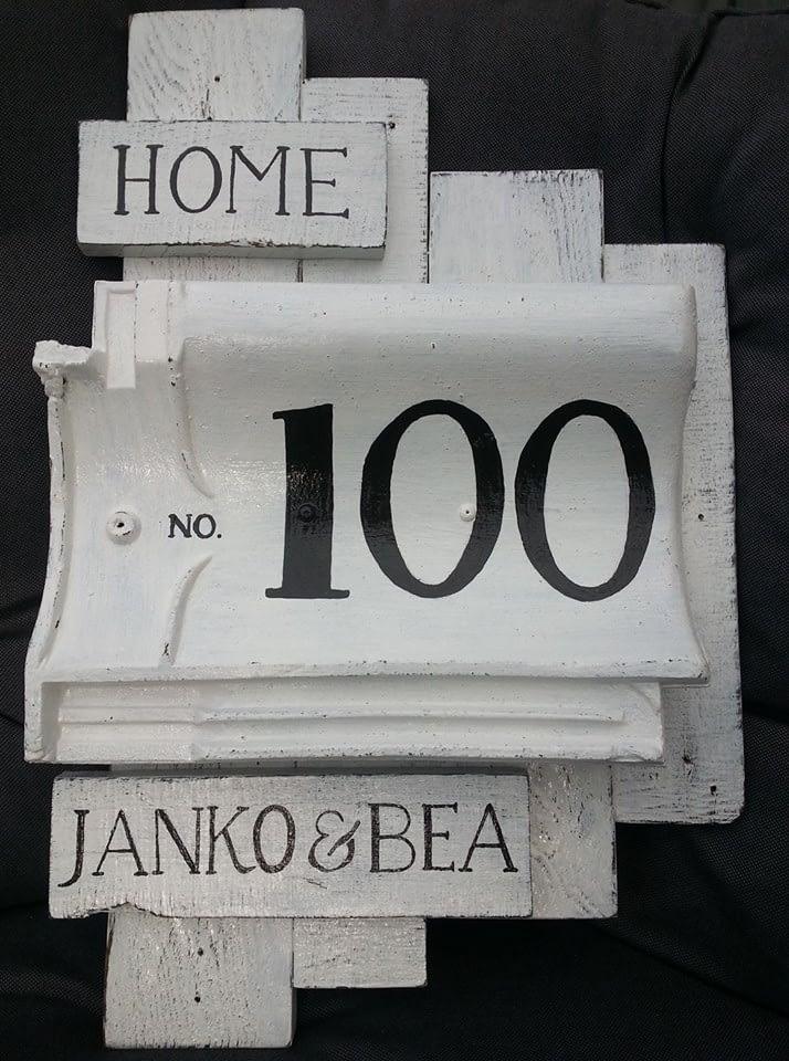Huisnummerbord 100