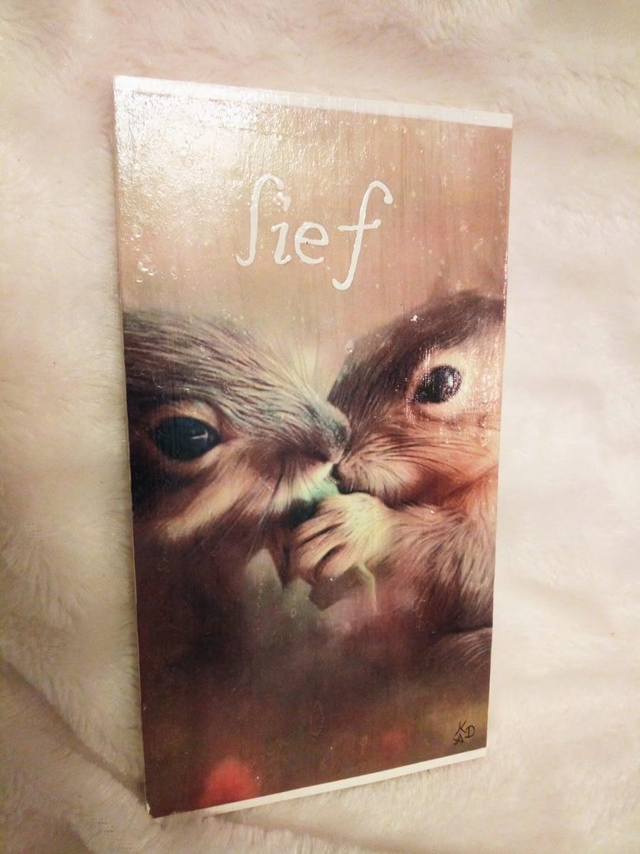 Deco-bordje: Lief - Eekhoorntjes