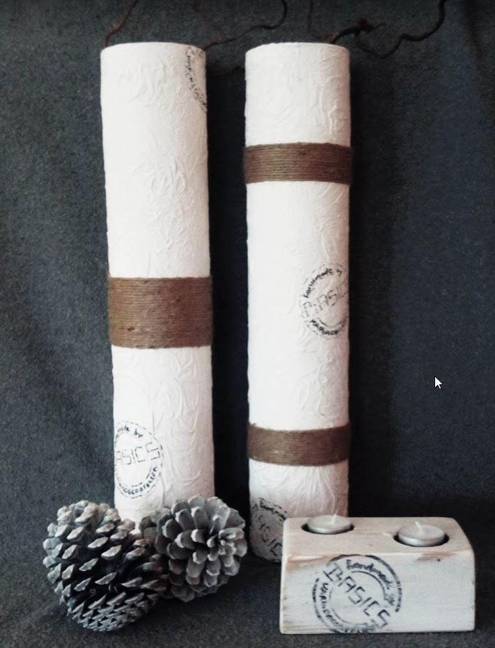 Basics: Gepimpte vaas met reliëf en touw